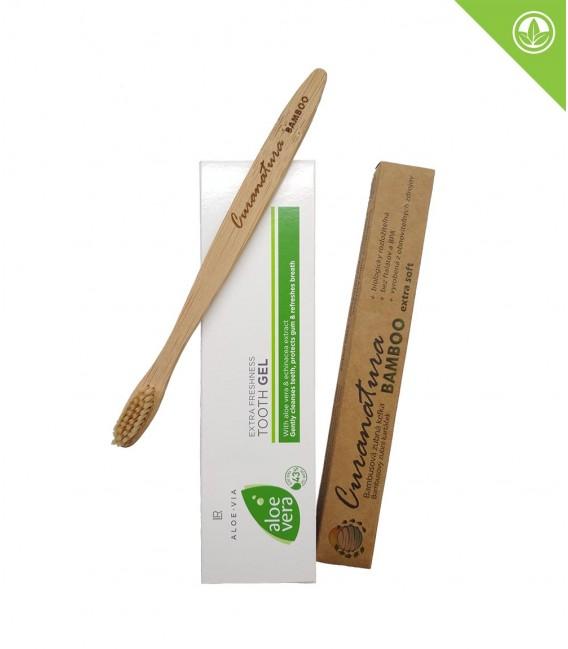Aloe Vera Extra Svěží Zubní Pasta + Kartáček (extra soft)
